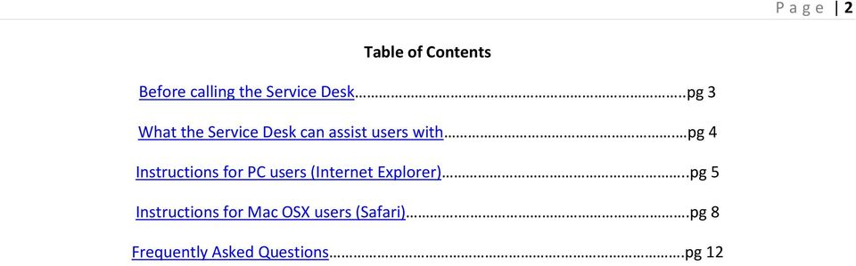 pg 4 Instructions for PC users (Internet Explorer).