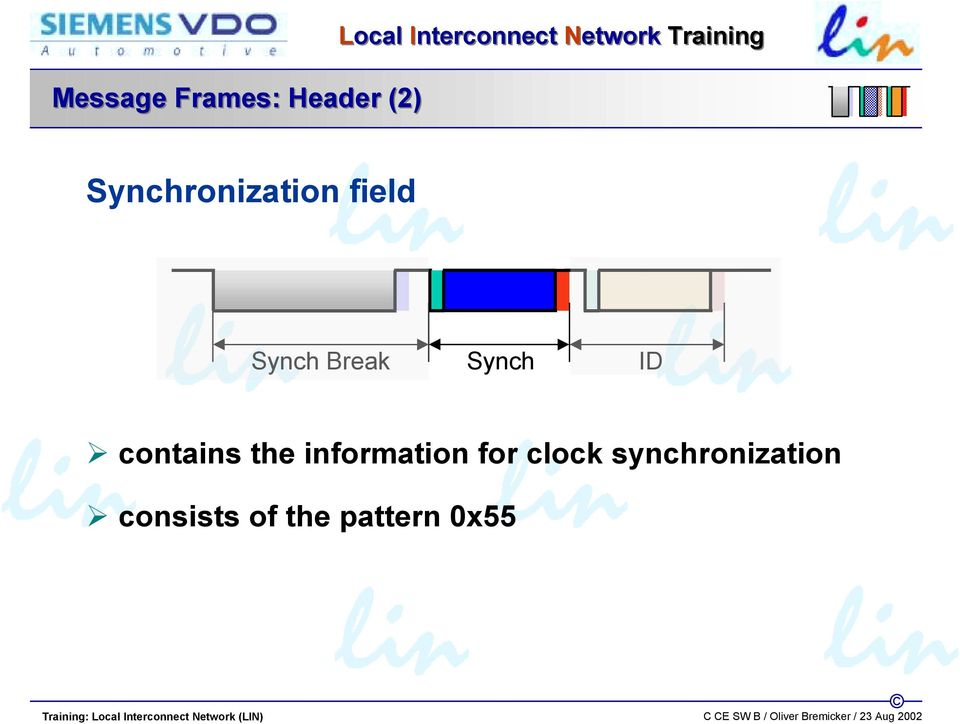 Break Synch ID contains the information for