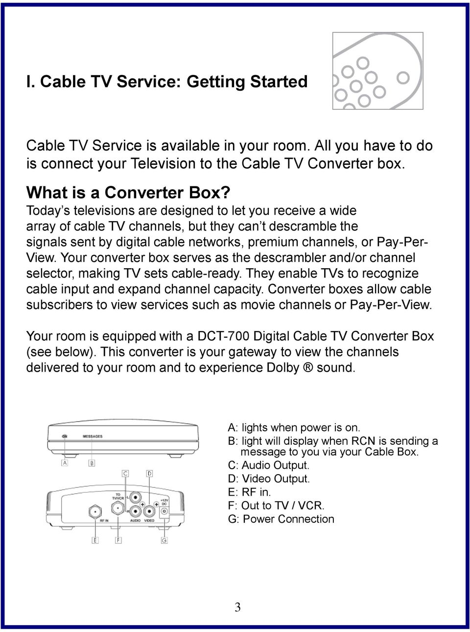 Cable Television Welcome Guide - PDF