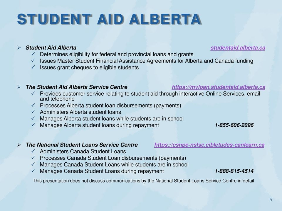 This presentation discusses the loan lifecycle and communications to student  loan borrowers who have Alberta student loans - PDF Free Download