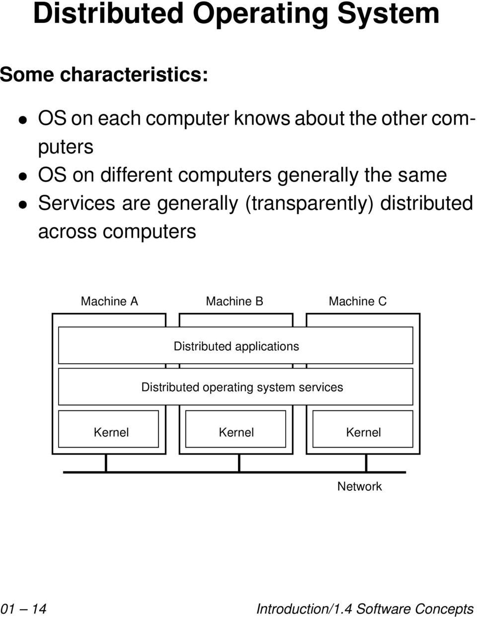 distributed across computers Machine A Machine B Machine C Distributed applications