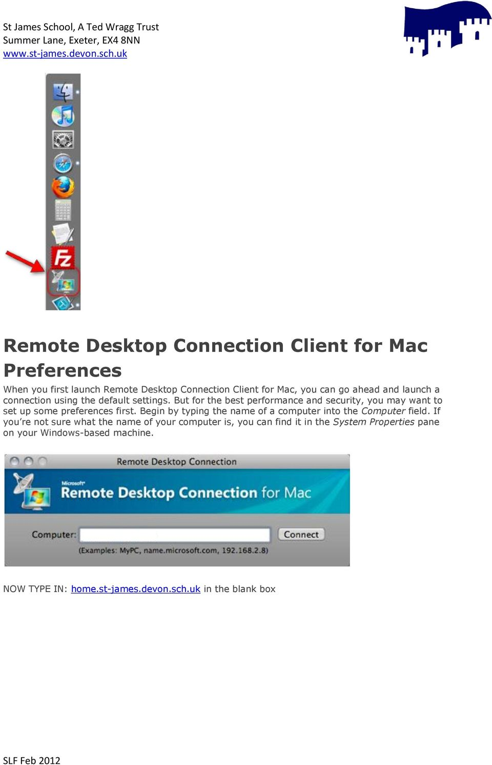 Installing and Configuring Remote Desktop Connection Client