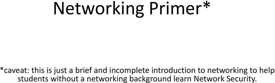 networking to help students without a