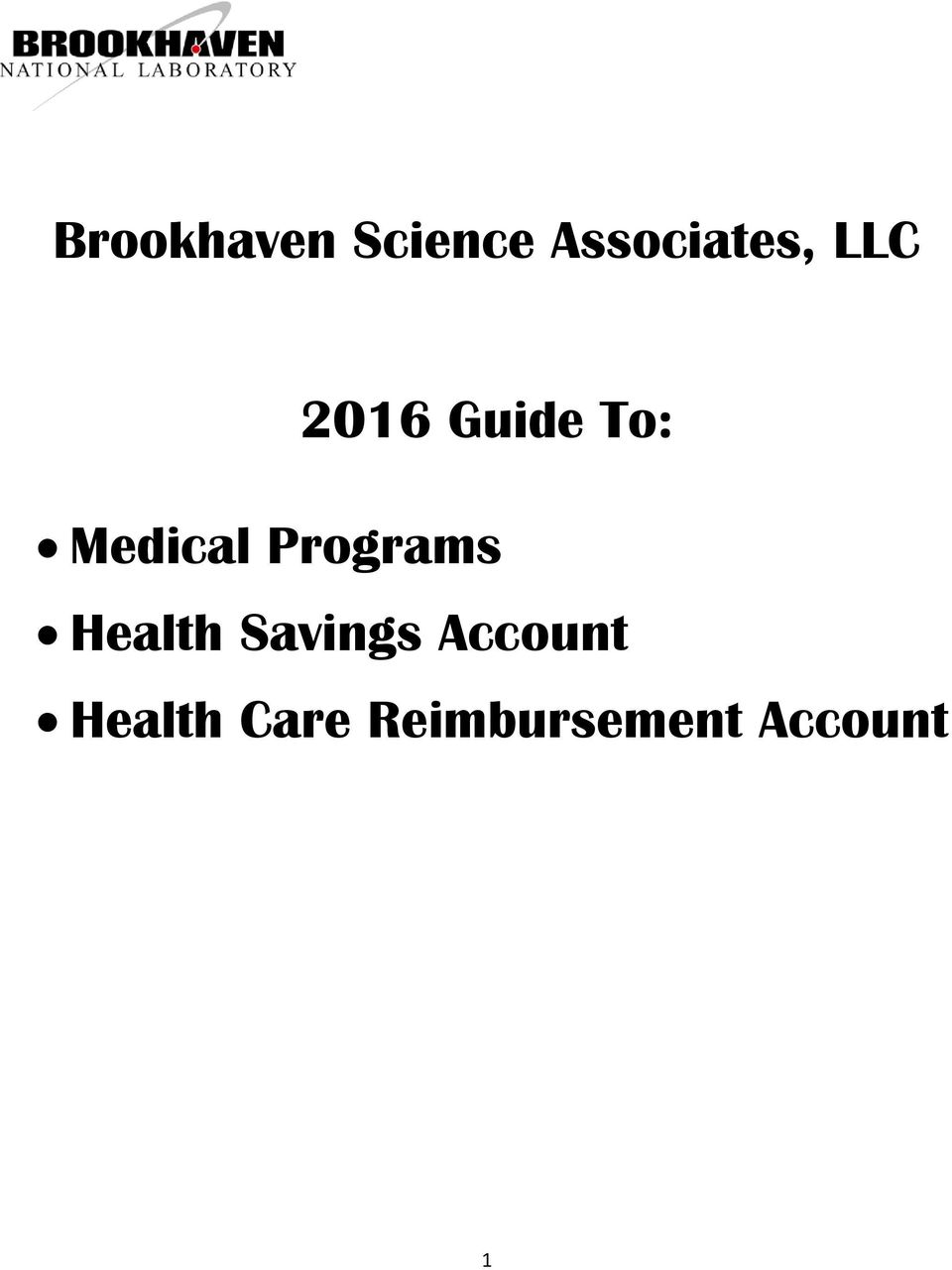 Programs Health Savings Account