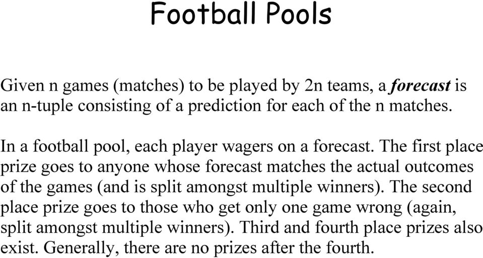 Math Meets the Bookies: or How to win Football Pools - PDF