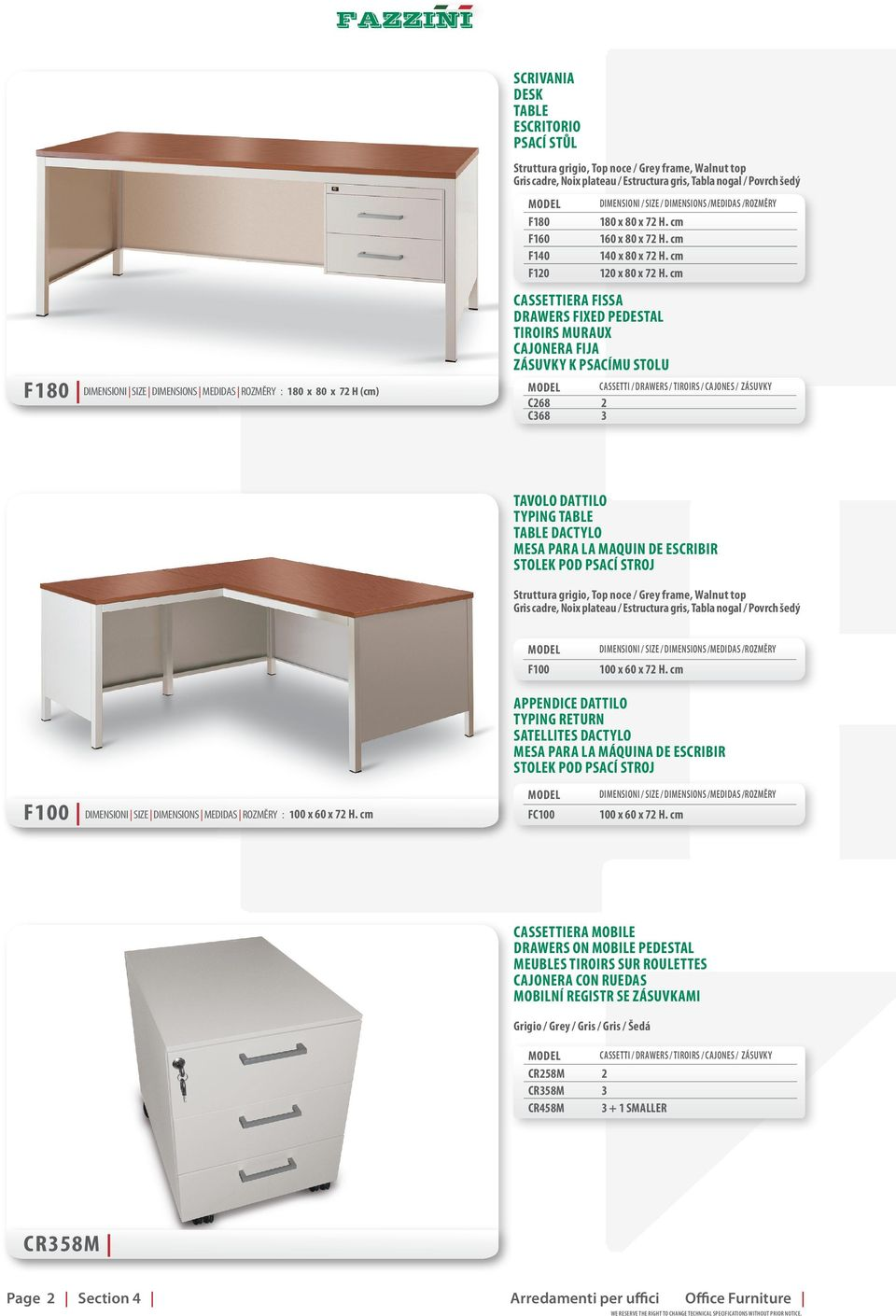 Cassettiera 60 X 60.Arredamento Per Uffici Office Furniture Mobilier Pour L Office