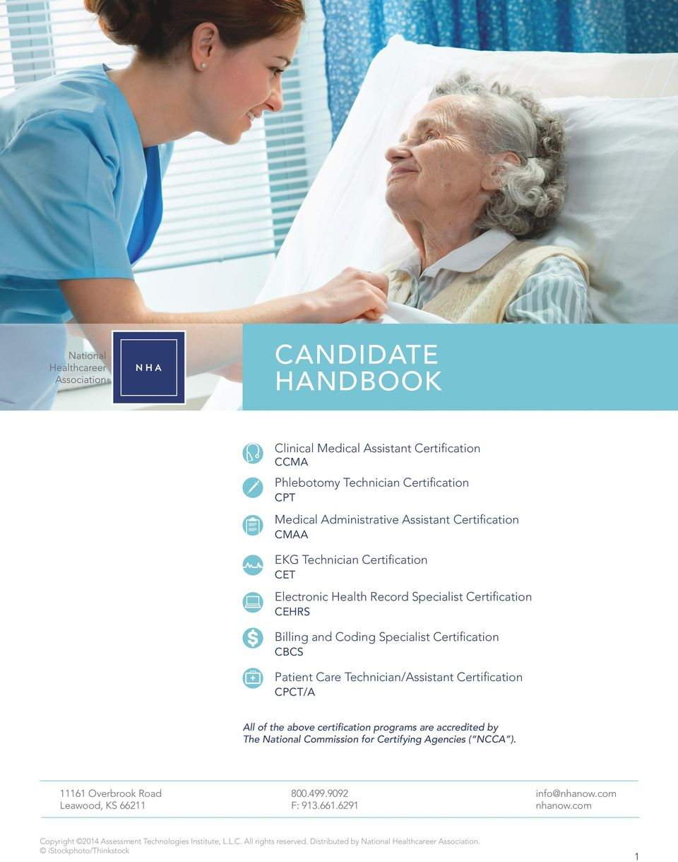 Candidate Handbook Clinical Medical Assistant Certification Ccma