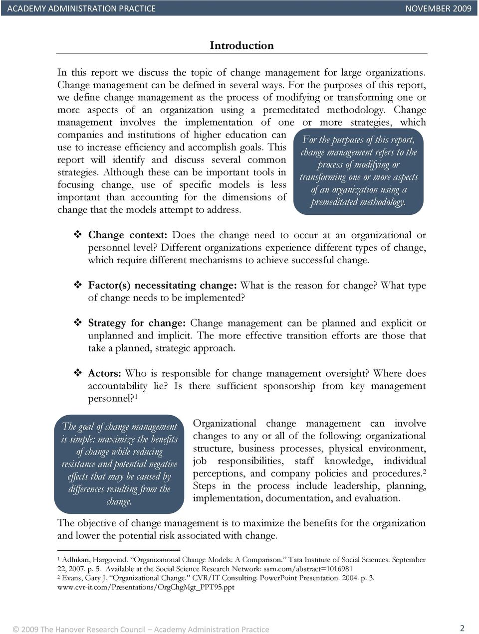 Best Practices in Change Management - PDF