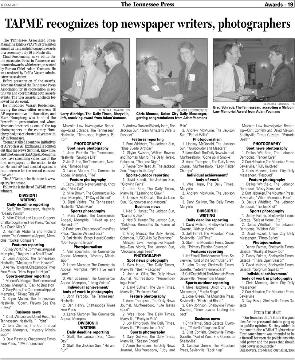 GENERAL EXCELLENCE AWARDS - PDF