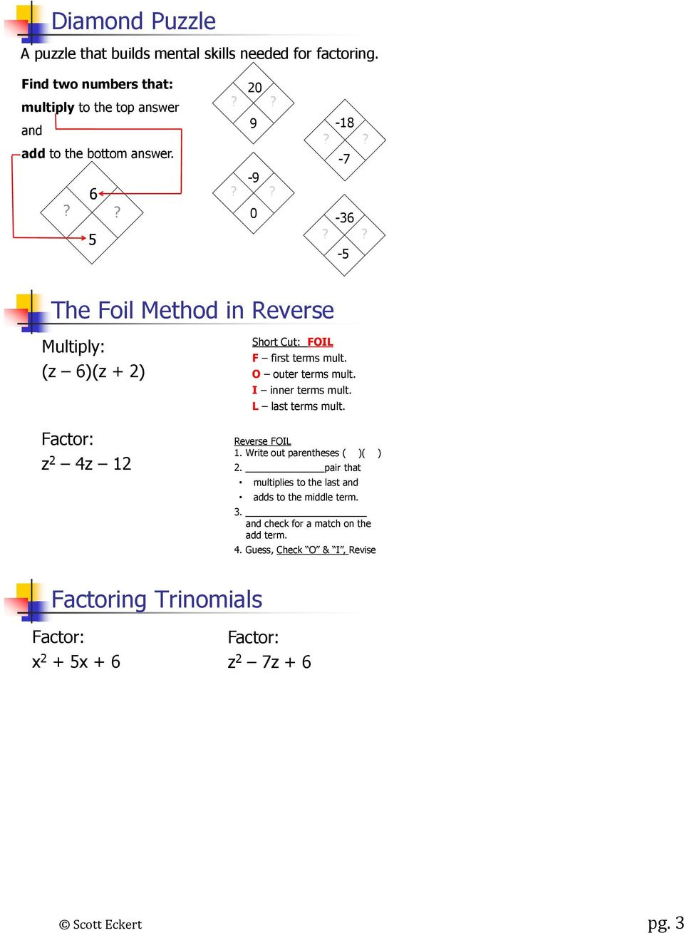 MATH 90 CHAPTER 6 Name:  - PDF