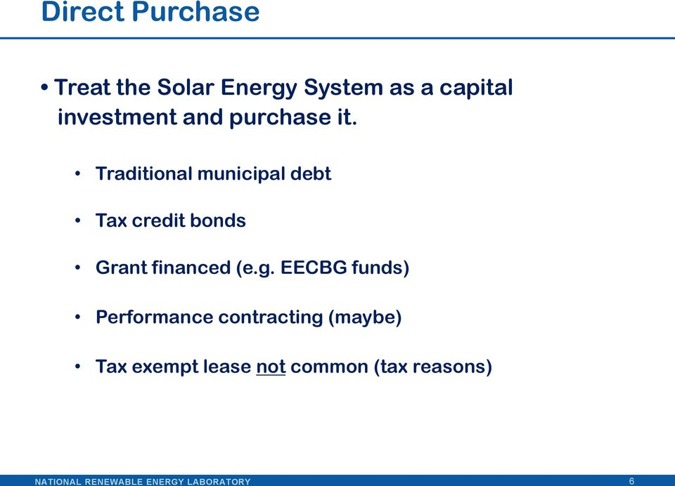 Financing Solar Energy Projects The Role Of Local Government Pdf