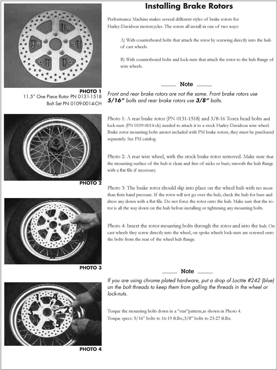 4 Piston Brake Calipers And Rotors Pdf Caption Diagram Of The Basic Front Disc Setup Arotor B With Counterbored Bolts Lock Nuts That Attach Rotor To Hub