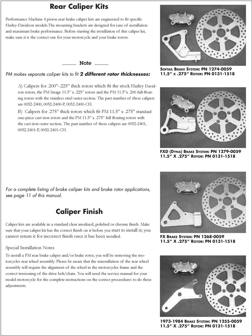 4 Piston Brake Calipers And Rotors Pdf Caption Diagram Of The Basic Front Disc Setup Arotor B Before Starting Installation This Caliper Kit Make Sure It Is Correct One