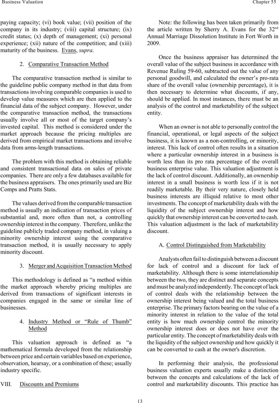 Business Valuation Panelists Pdf Free Download