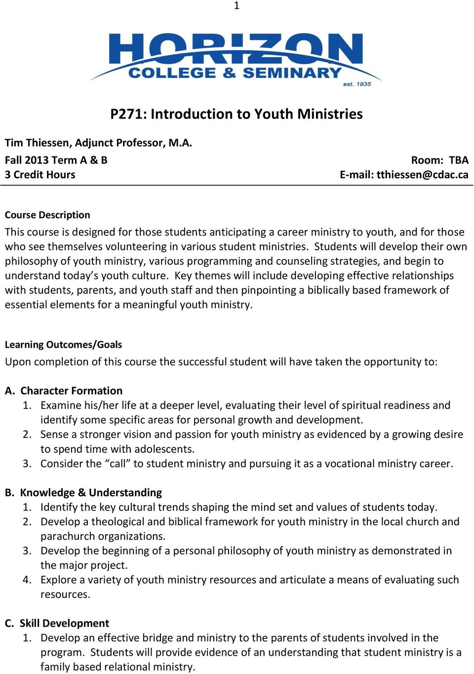 Parachurch teen ministries list