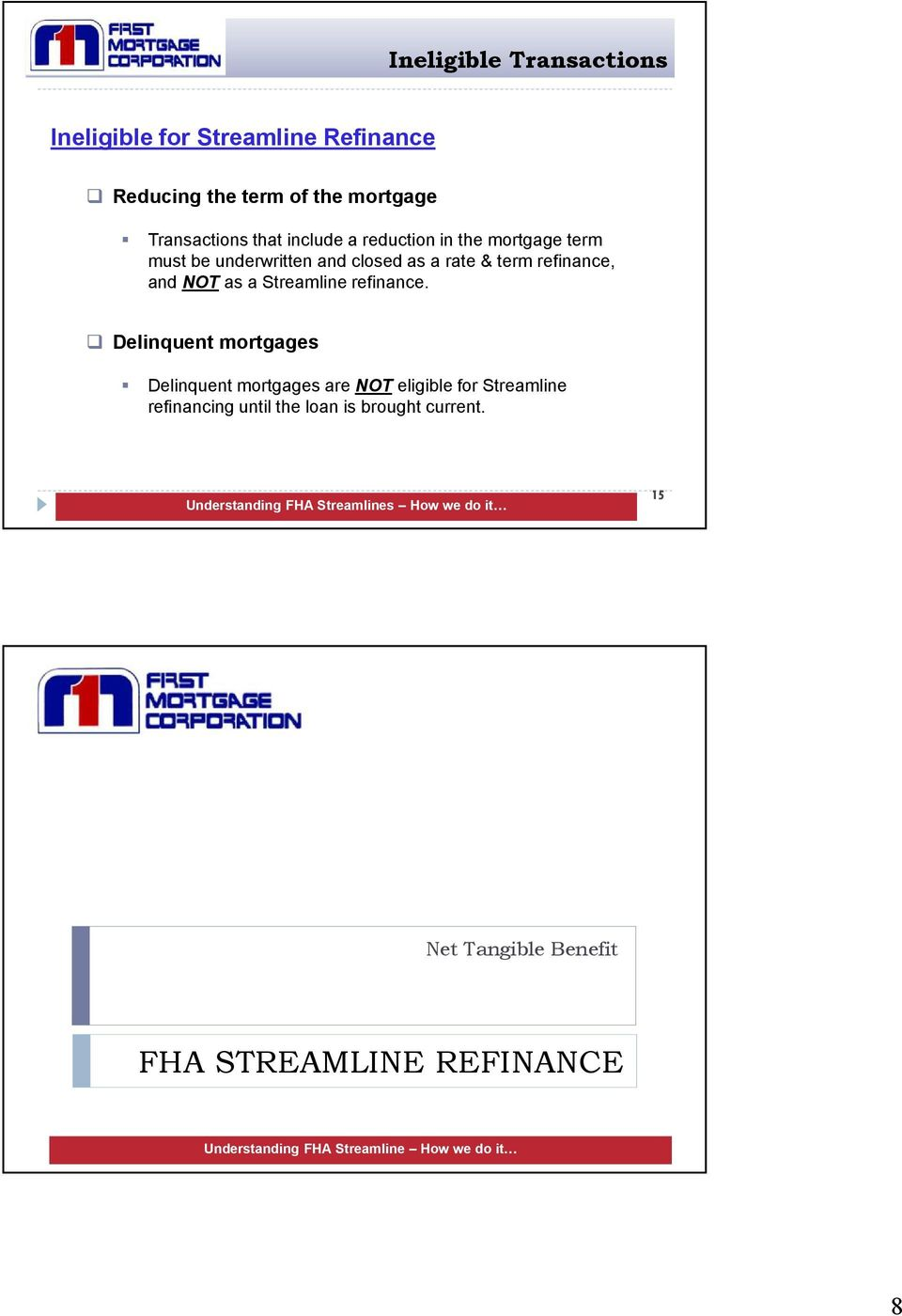 Worksheets Fha Refinance Worksheet fha streamline training pdf refinance