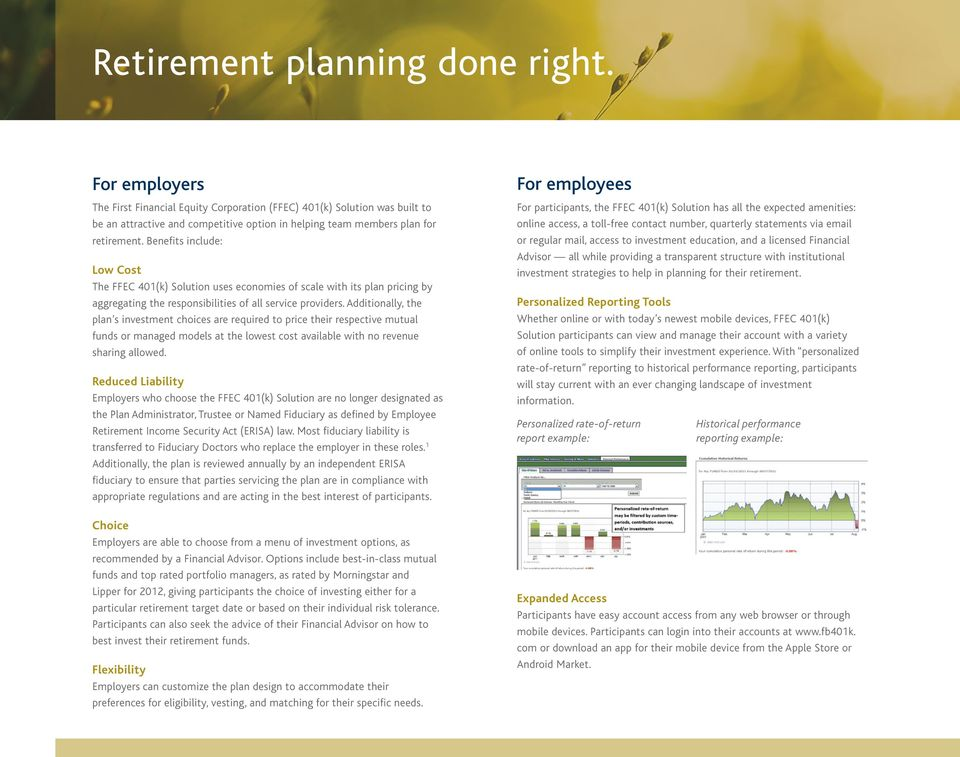 Empowered Retirement  401(k) Solution from FFEC - PDF