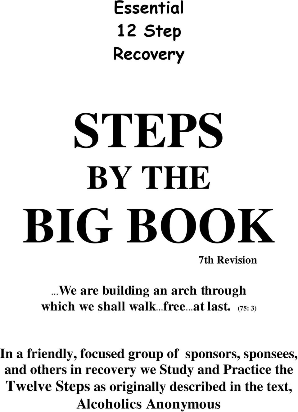 Worksheets Twelve Steps Of Aa Worksheet essential 12 step recovery steps by the big book we are building an 75 3 in a friendly focused group of sponsors sponsees