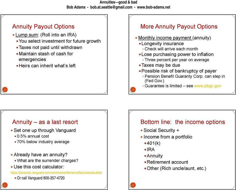 annuities good not so good or bad are they for you pdf