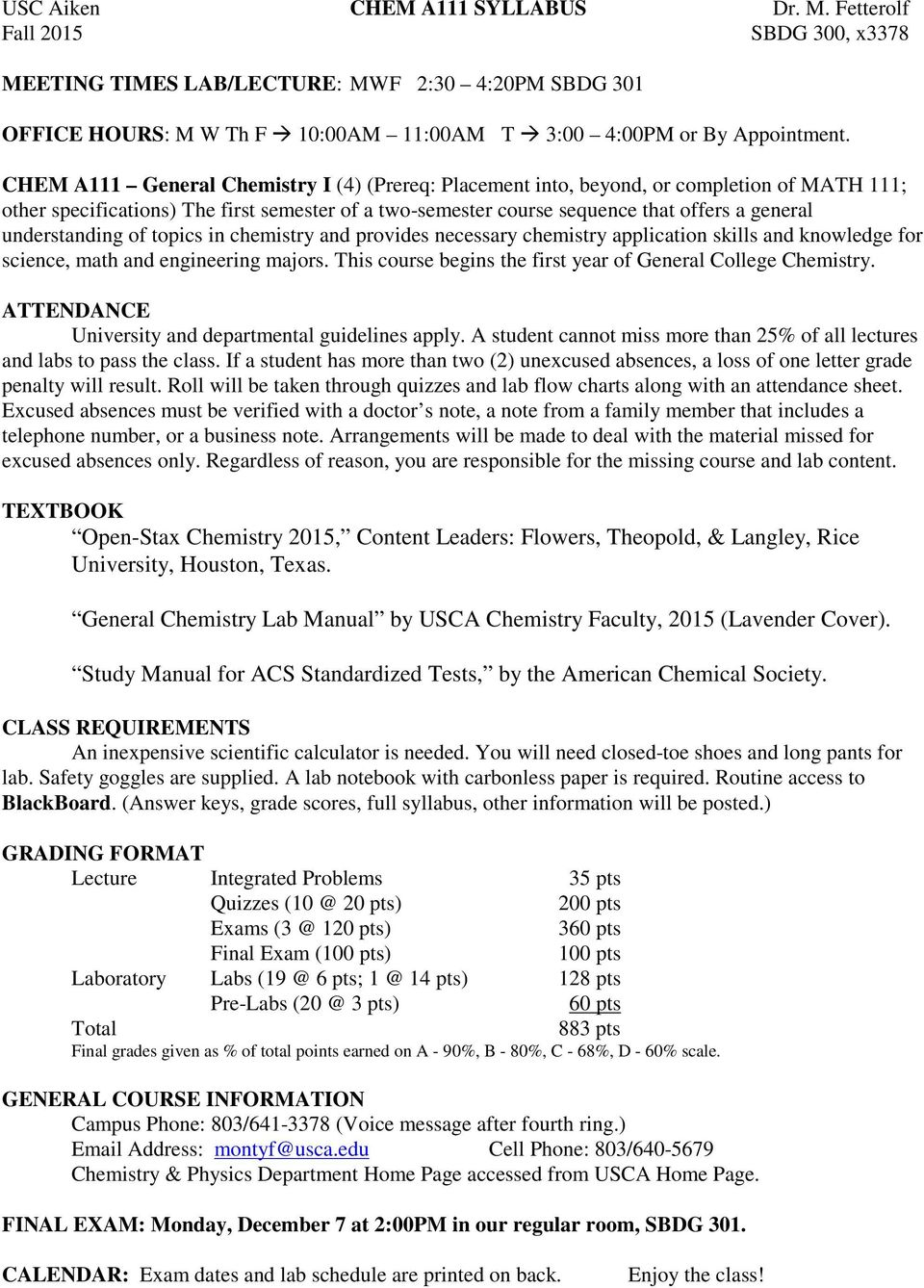 General Chemistry 1411 Lab Manual Answers