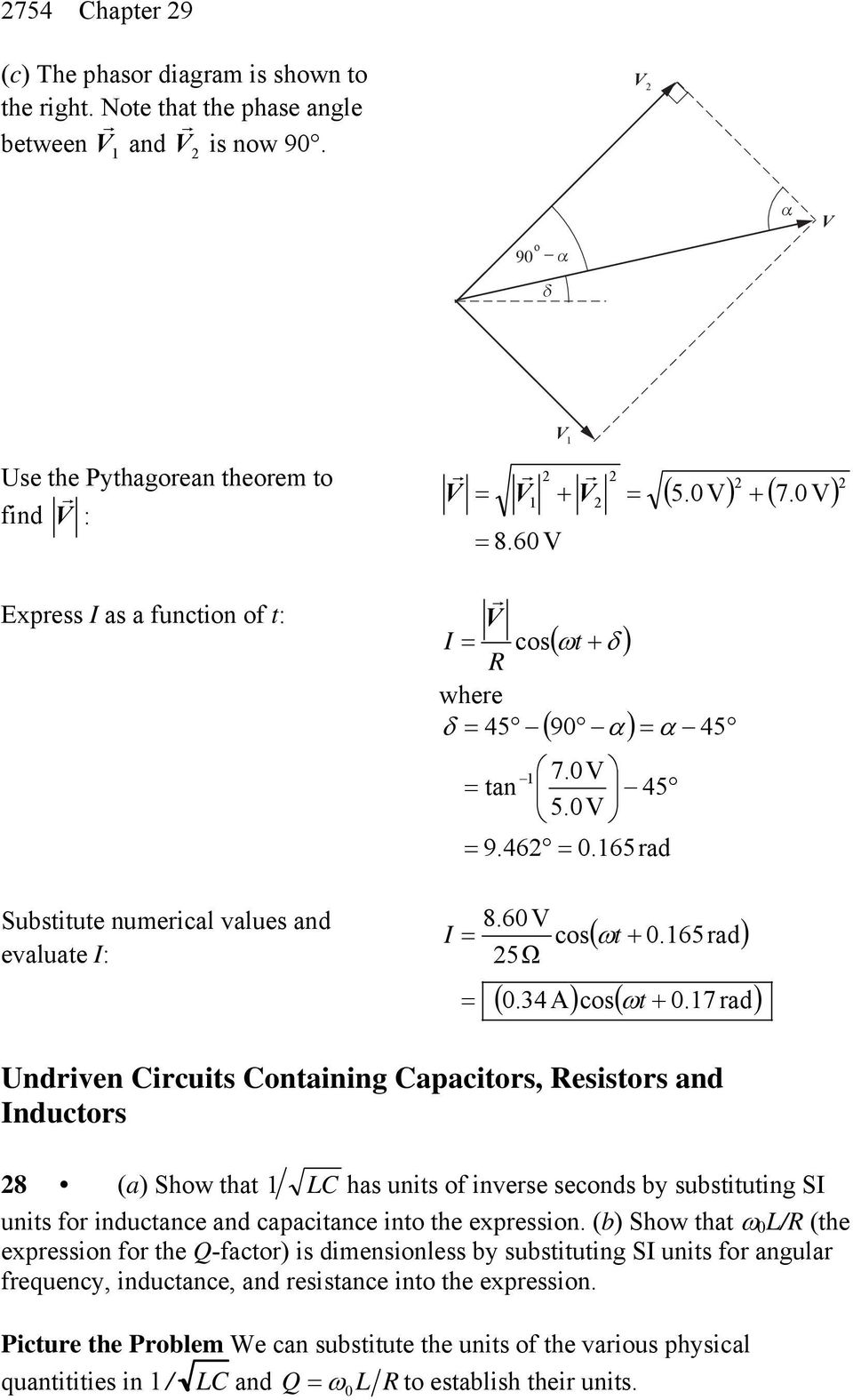 Chapter 29 Alternating Current Circuits Pdf Inductors In Ac Inductive Reactive And Phasor Diagrams 7 Rad Undriven Ircuits Ontaining Apacitors Esistors Nductors 8 A Show