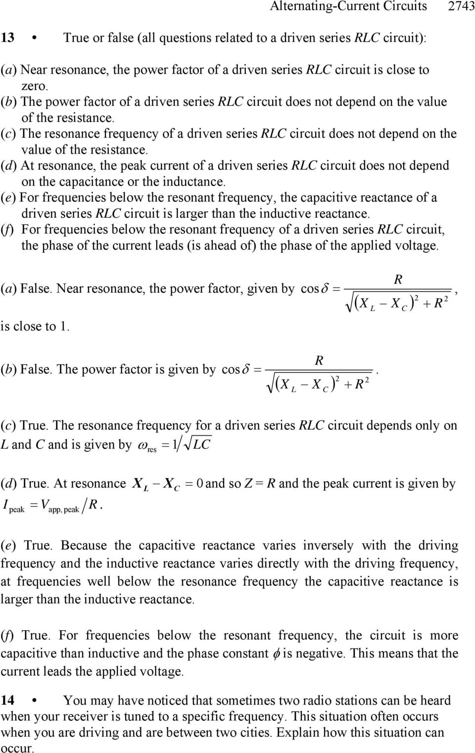 Chapter 29 Alternating Current Circuits Pdf Inductors In Ac Inductive Reactive And Phasor Diagrams D At Resonance The Of A Driven Series Circuit Does Not Depend