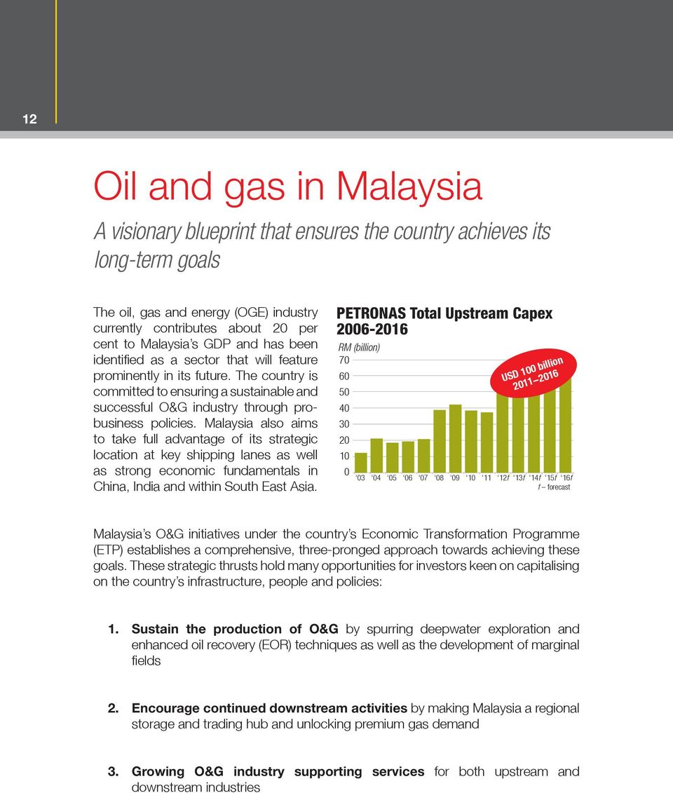 Meet Malaysia Investment opportunities in Asia s oil and gas
