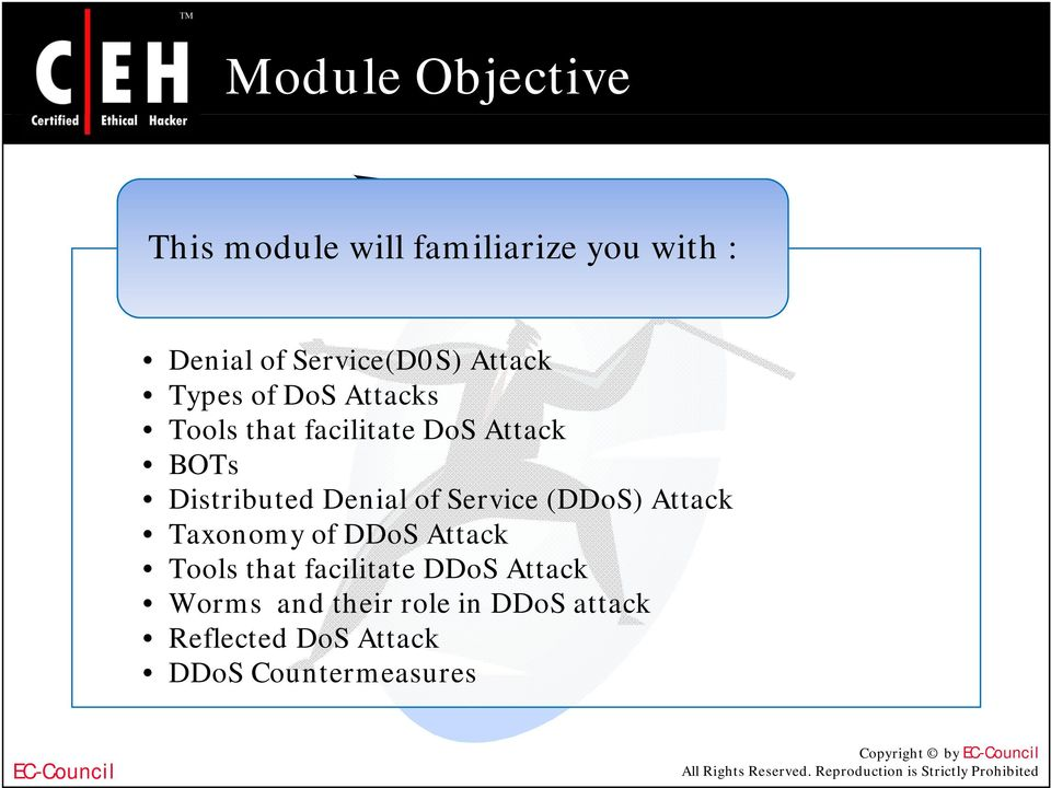 Ethical Hacking and Countermeasures Version 6  Denial of Service - PDF