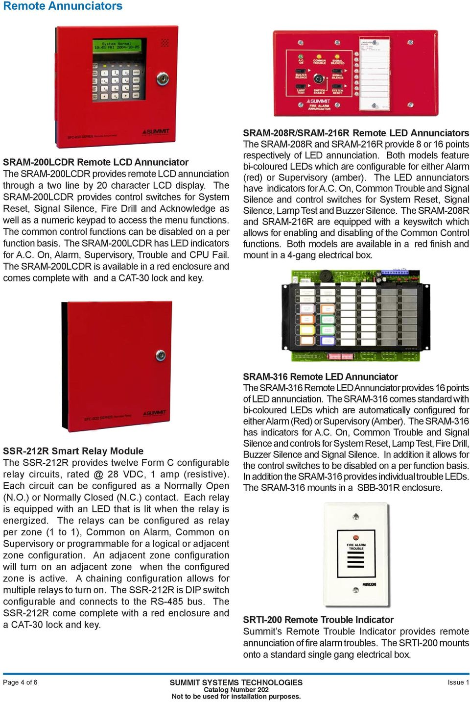 Sfc 200 Series Fire Alarm Control Panels Dsc Pc1832 Wiring Diagram The Common Functions Can Be Disabled On A Per Function Basis Sram