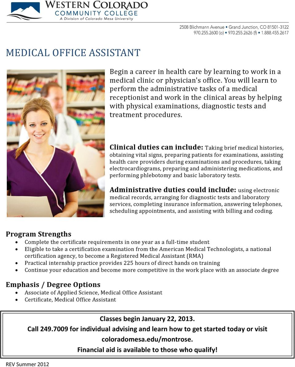 Medical Office Assistant Pdf