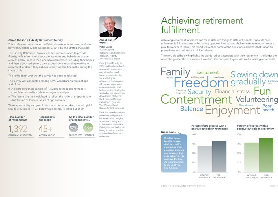 hopes and fears about retirement, their expectations regarding working in retirement, and how they anticipate they will fare financially during this stage of life.