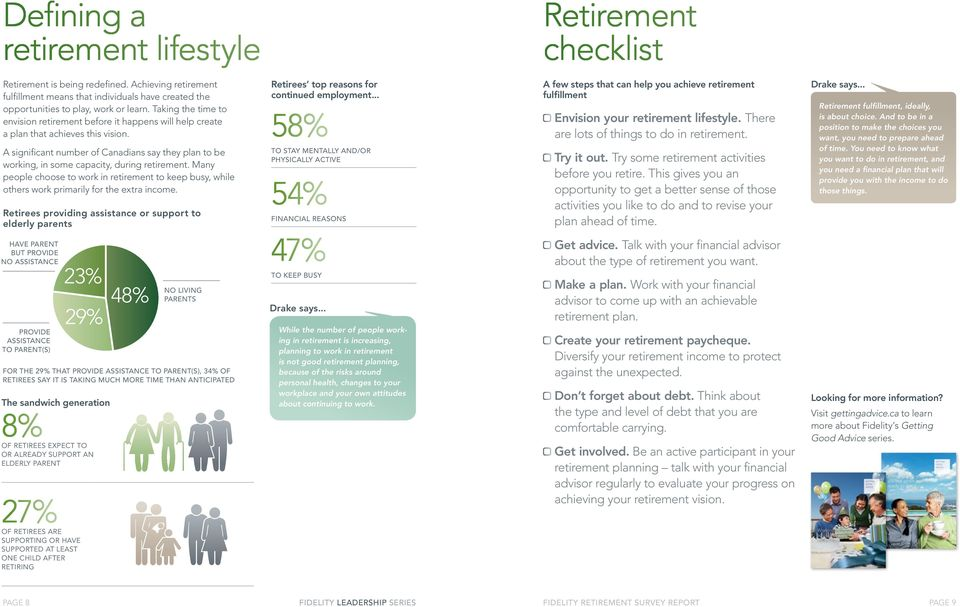 A significant number of Canadians say they plan to be working, in some capacity, during retirement.