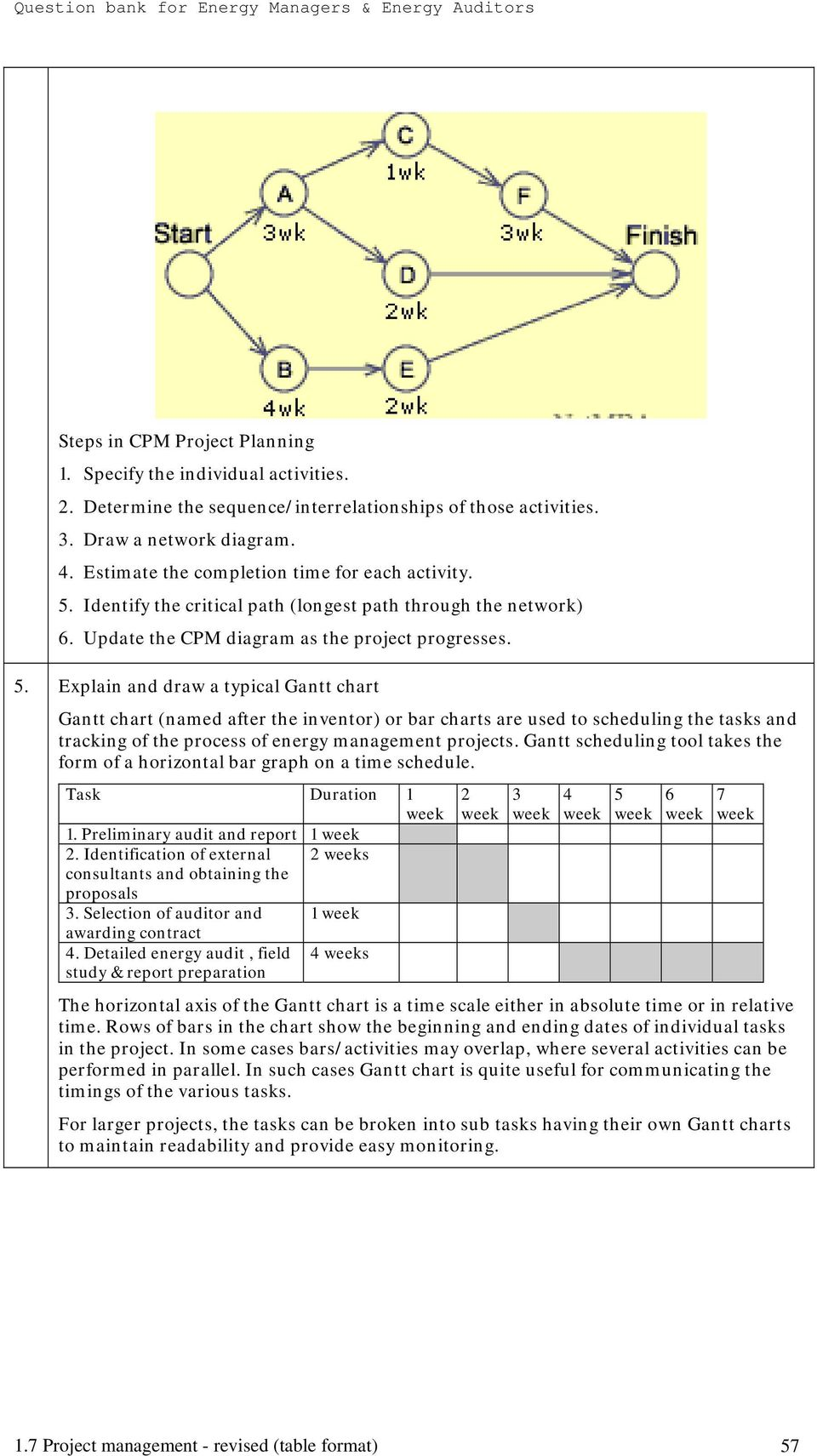 Identify the critical path (longest path through the network) 6. Update the CPM diagram as the project progresses. 5.