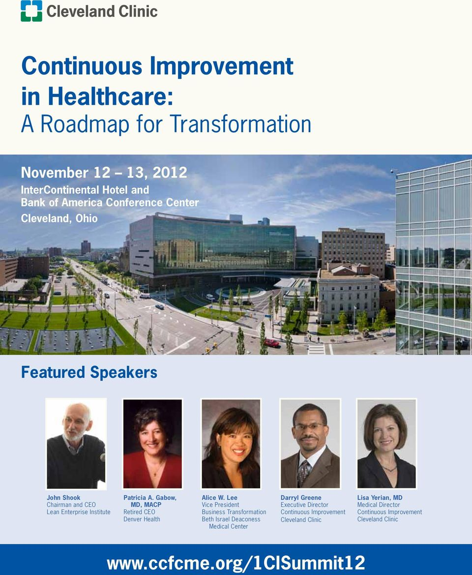 Continuous Improvement in Healthcare: A Roadmap for