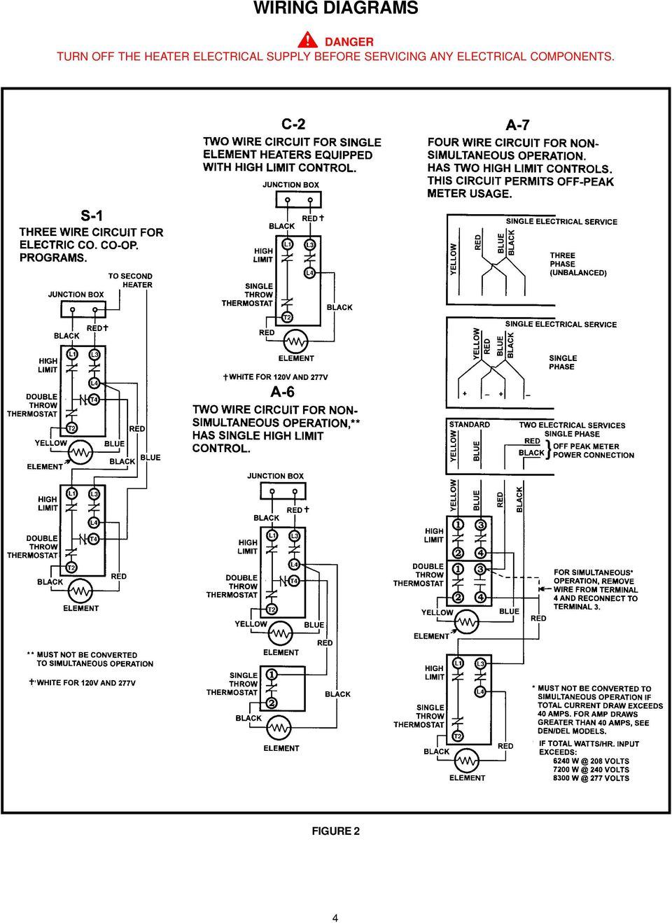 Electric Residential Water Heater Owners Manual General Single Element Wiring Diagram Supply Before Servicing