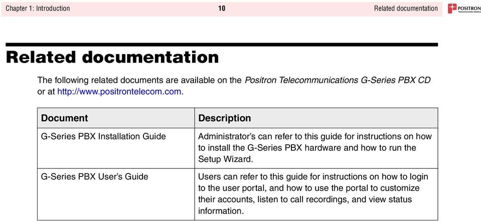 G-Series PBX  Administrator s Guide for the  G-122 Analog