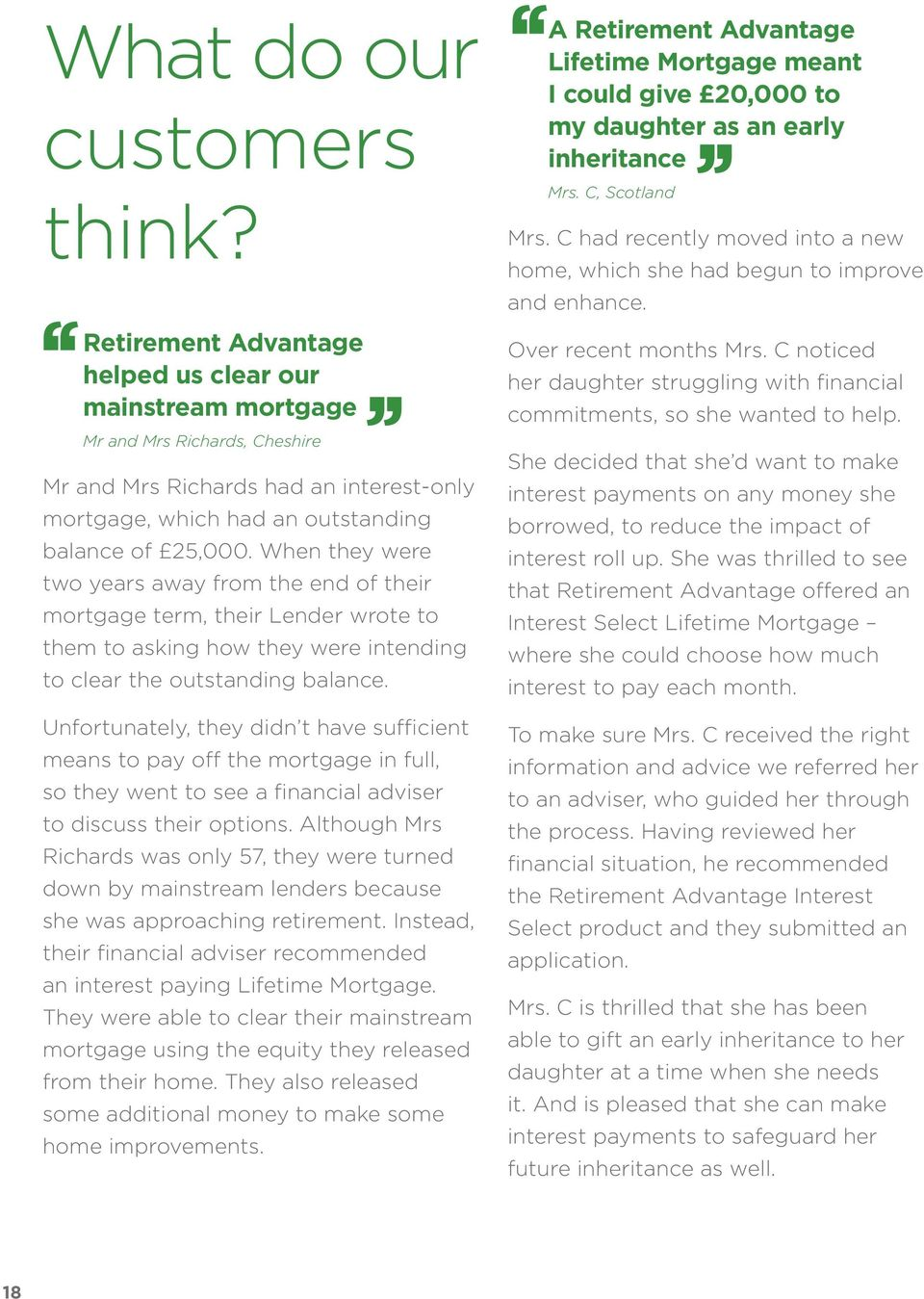 When they were two years away from the end of their mortgage term, their Lender wrote to them to asking how they were intending to clear the outstanding balance.