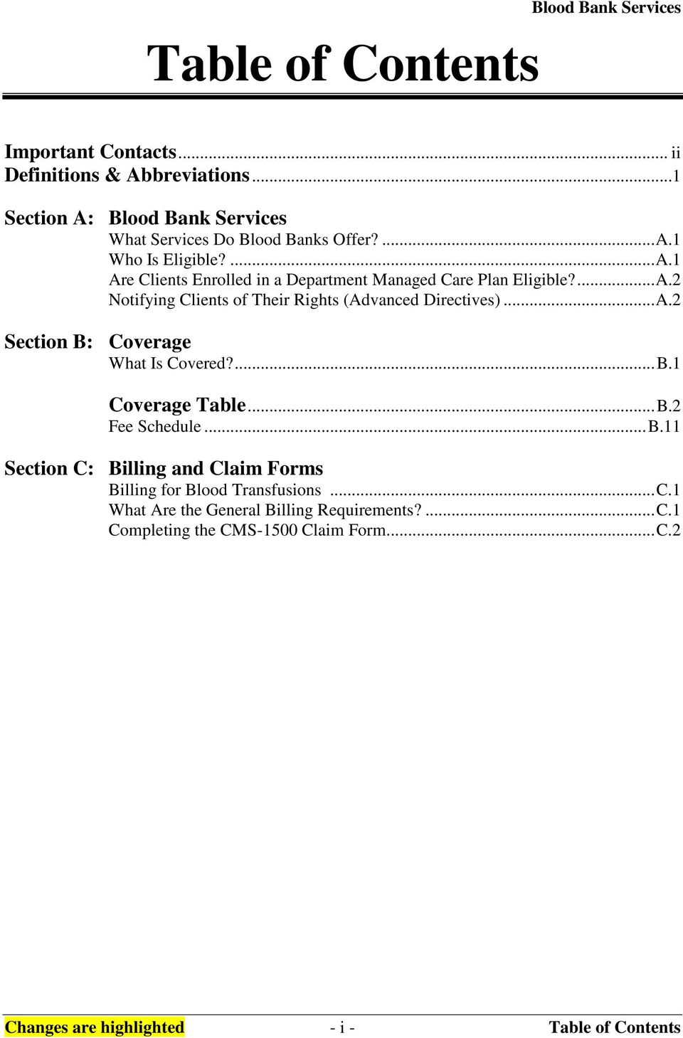 MEDICAID PURCHASING ADMINISTRATION (MPA) Blood Bank Services