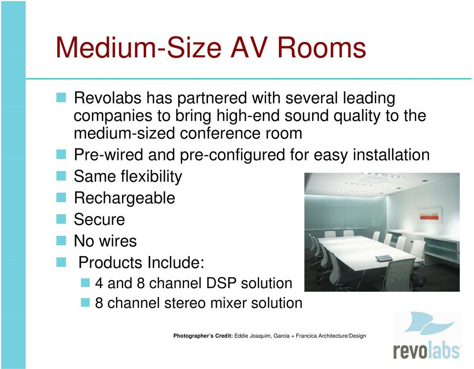 Revolabs Audio S olutions Solutions Hear Every Word! - PDF