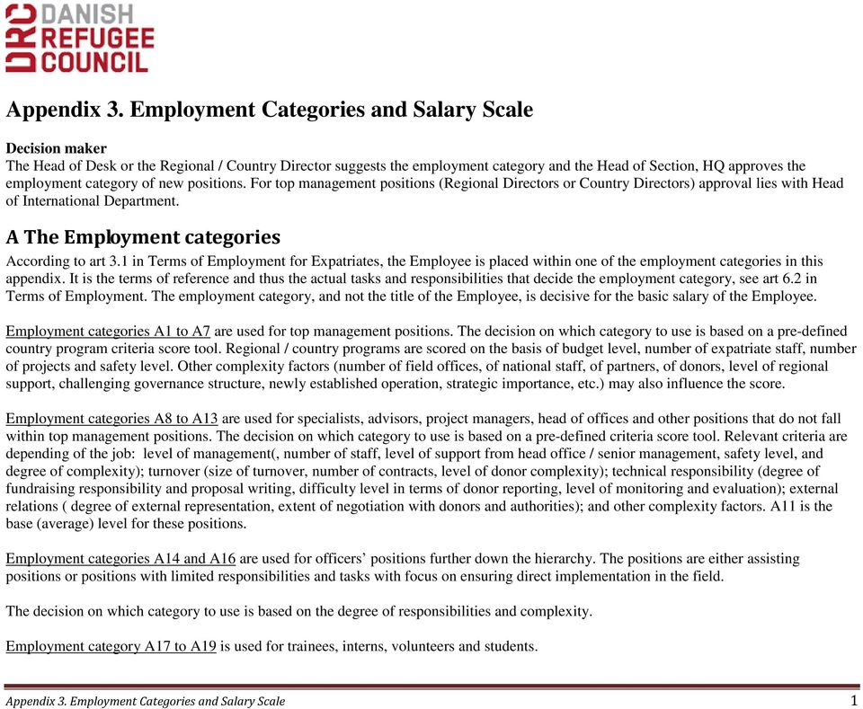 Appendix 3  Employment Categories and Salary Scale - PDF