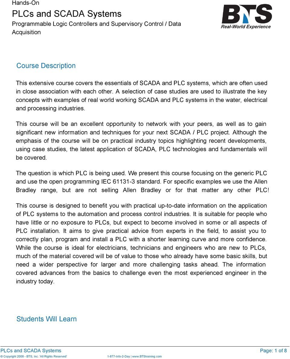 PLCs and SCADA Systems - PDF