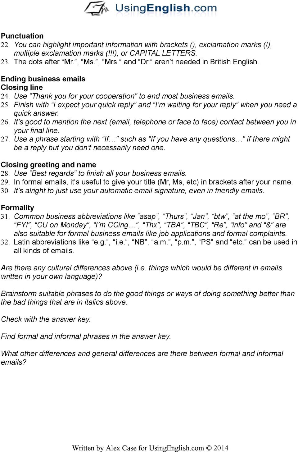 Business S Tips And Useful Phrases Pdf