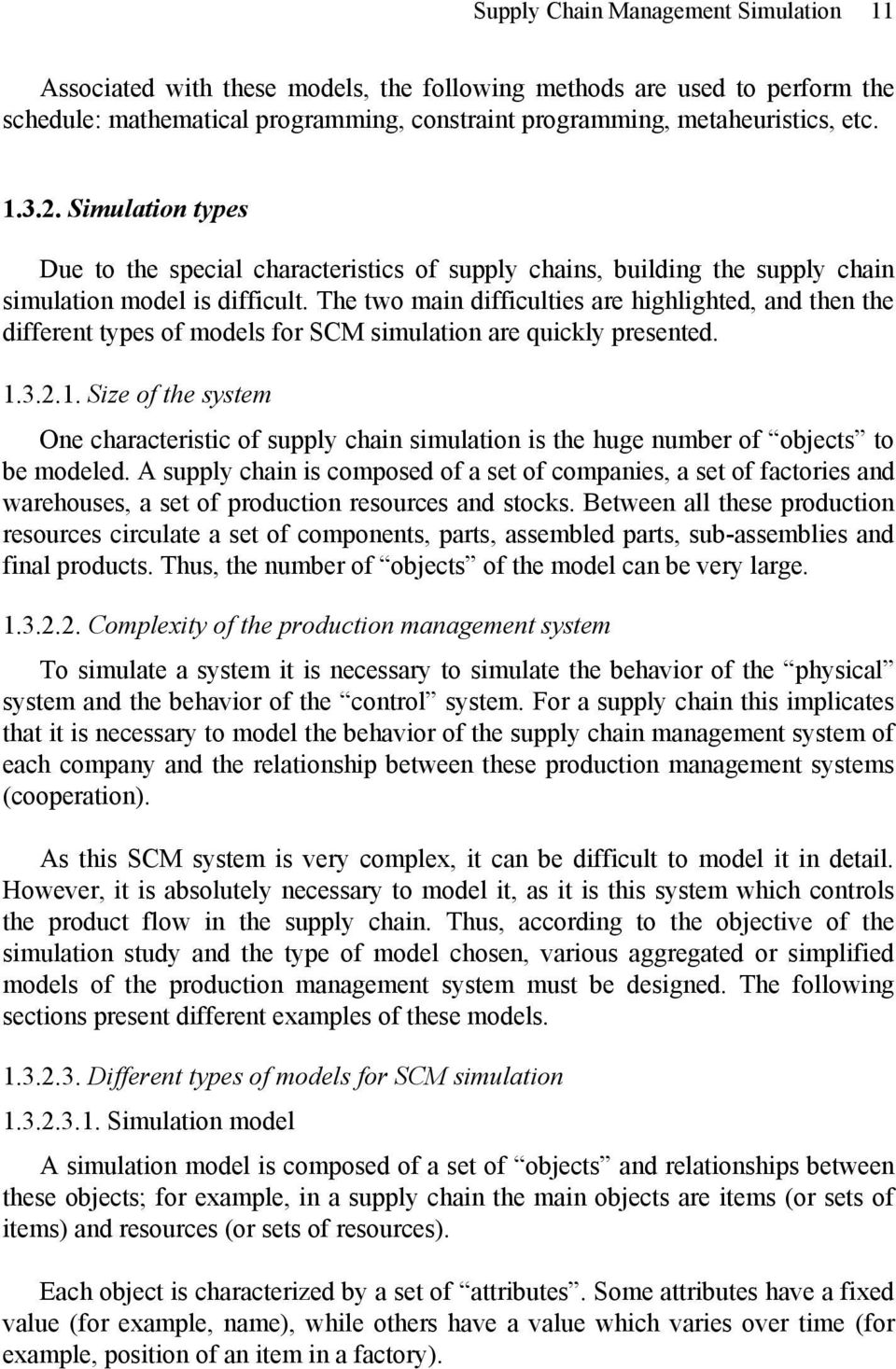 Supply Chain Management Simulation: An Overview - PDF