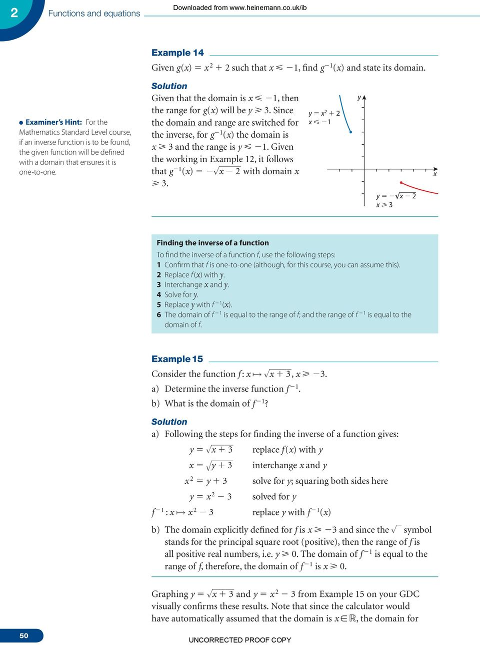Downloaded from equations. 2.4 The reciprocal function x 1 x - PDF