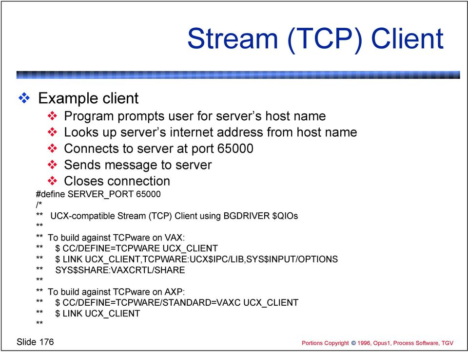 Session NM059  TCP/IP Programming on VMS  Geoff Bryant