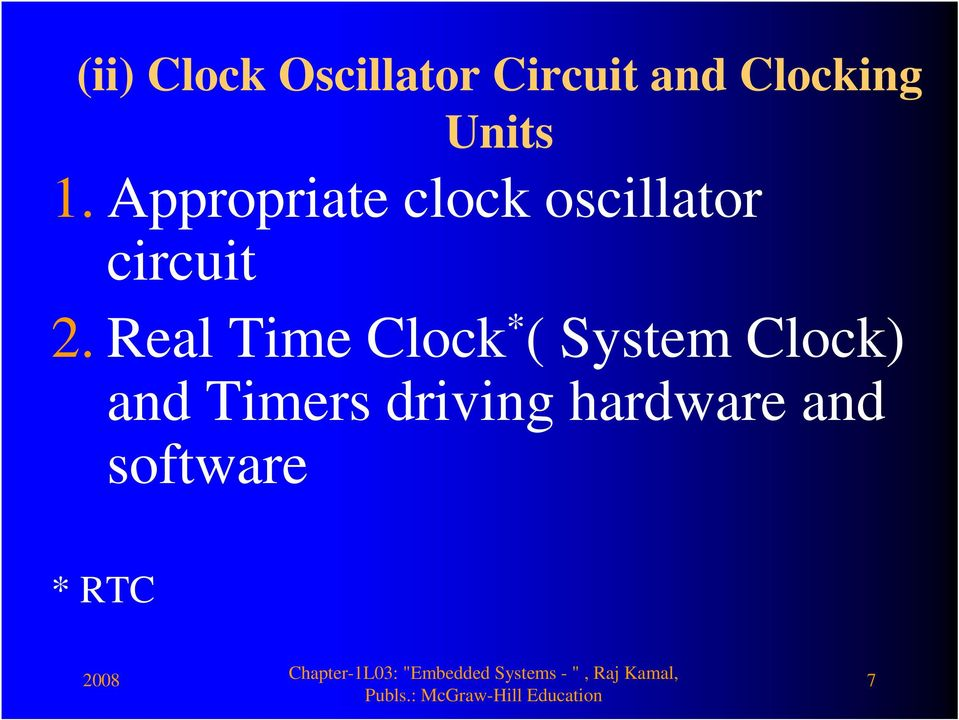 Appropriate clock oscillator circuit 2.