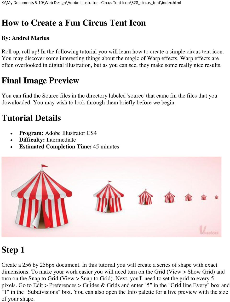 How to Create a Fun Circus Tent Icon  Final Image Preview
