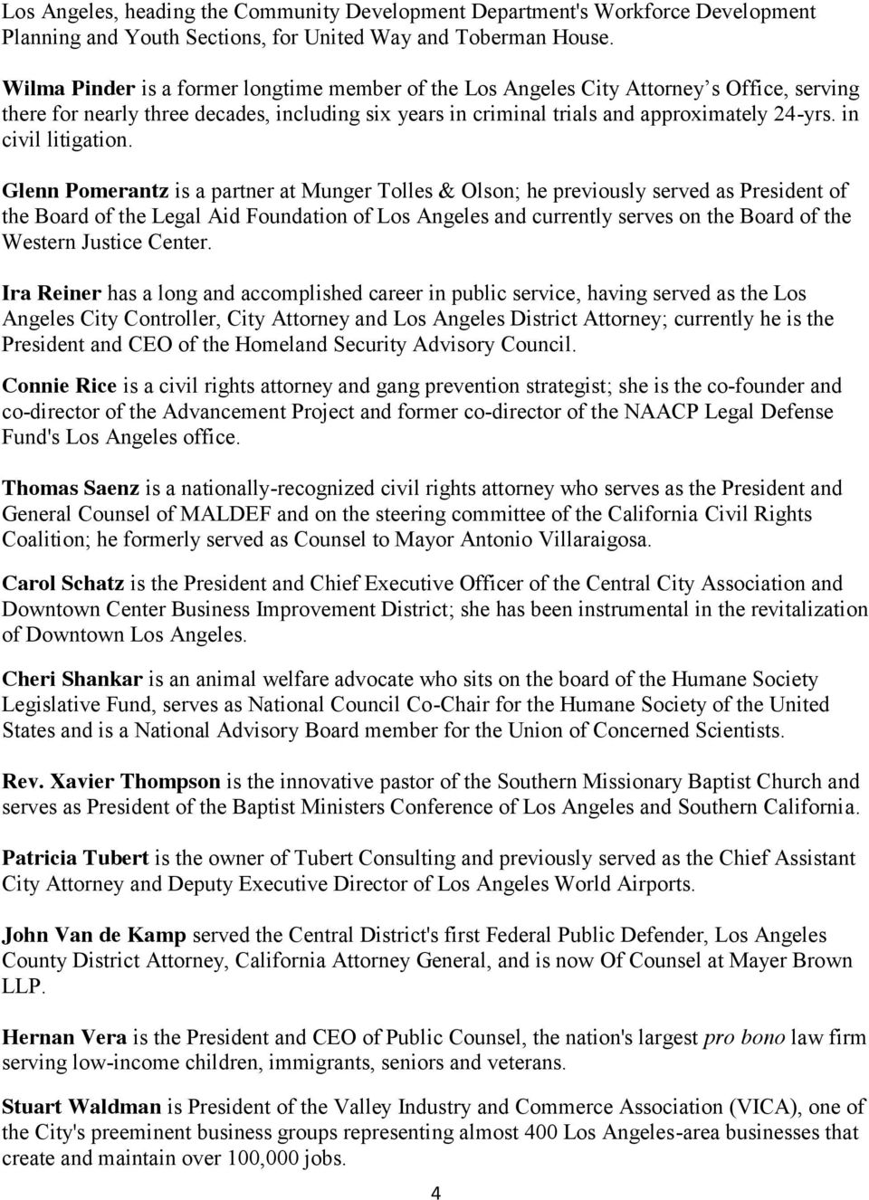CITY ATTORNEY-ELECT MIKE FEUER'S TRANSITION TEAM - PDF