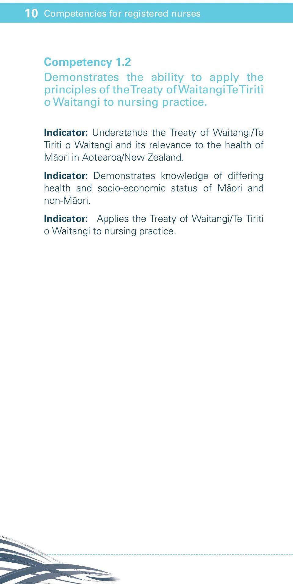 Indicator: Understands the Treaty of Waitangi/Te Tiriti o Waitangi and its relevance to the health of Maori in