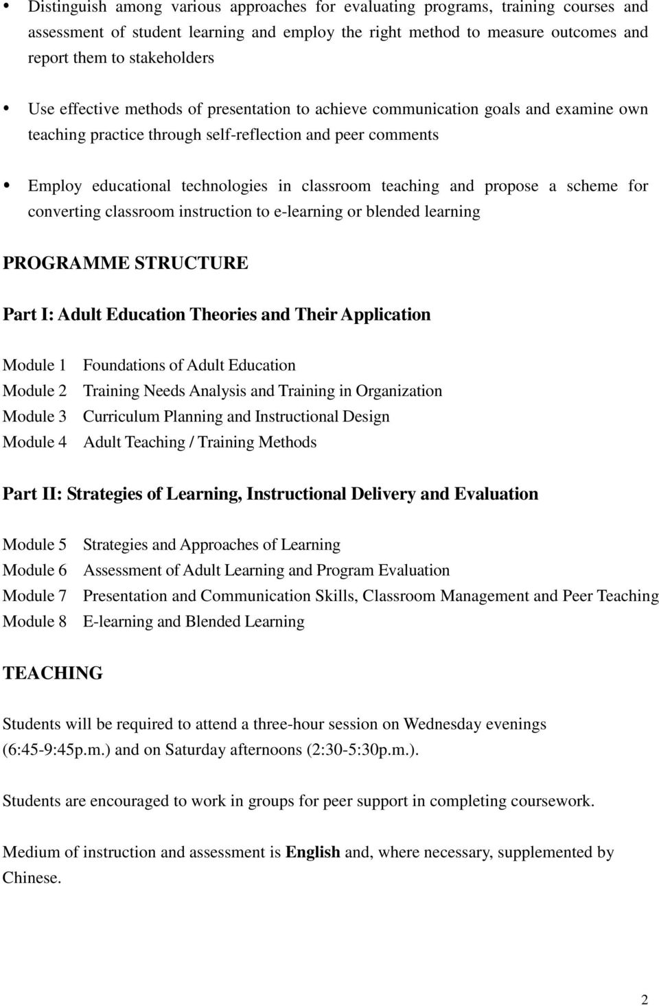 Graduate Diploma in Adult Education and Training - PDF